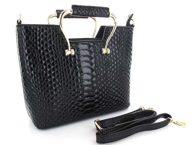 Textured Patent Faux Leather Purse