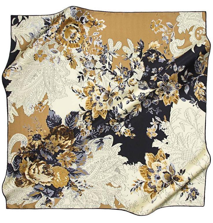 Aker Pure Silk Turkish Hijab Scarf 100 x 100cm #6707-311
