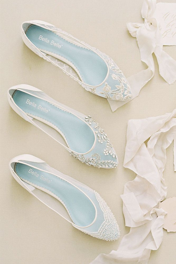 27 Flat wedding shoes for lovers