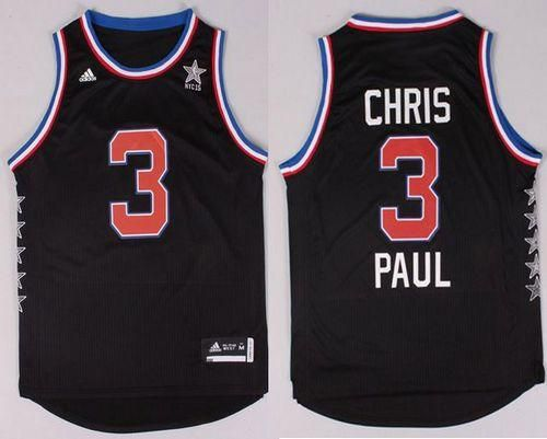 sports shoes b268b 733e4 Clippers #3 Chris Paul Black 2015 All Star Stitched NBA ...