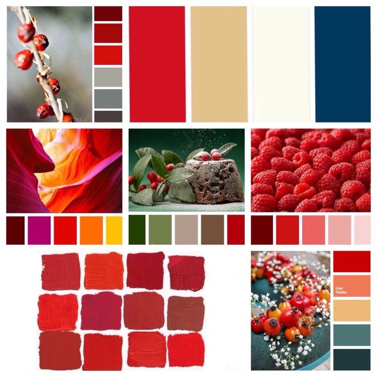 идеи сочетания с красным цветом