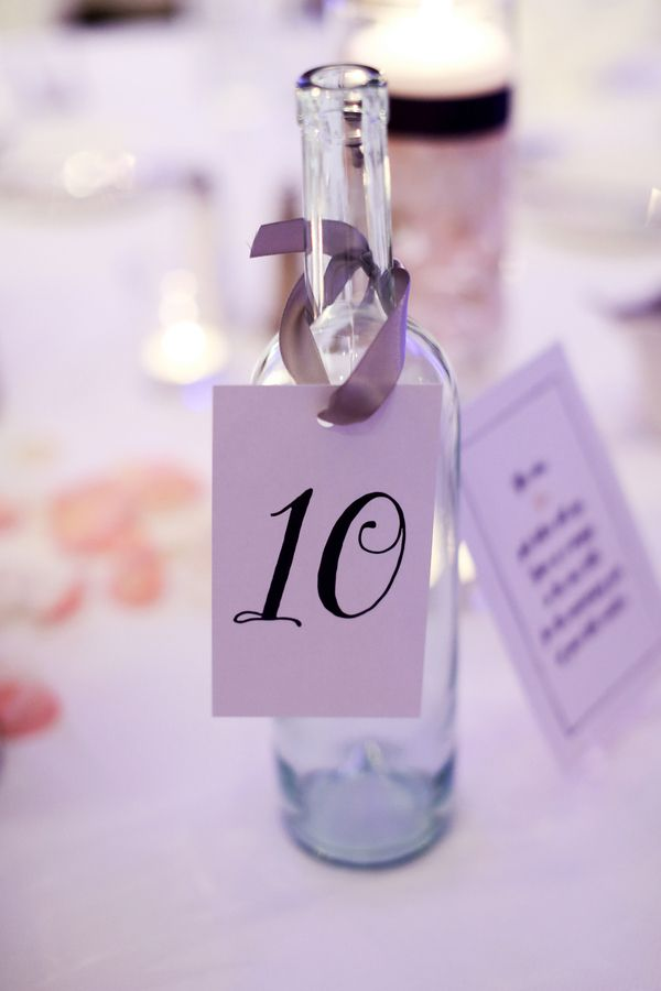 Simple wine bottle table numbers