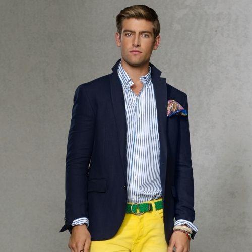 $1,295, Navy Blazer: Polo Ralph Lauren Solid Linen Sport Coat. Sold by Ralph Lauren. Click for more info: https://lookastic.com/men/shop_items/52418/redirect