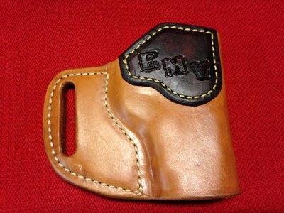 Slide Holster - Natural with Contrasting Support and Initials