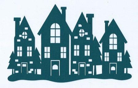 Christmas town silhouette von hilemanhouse auf Etsy