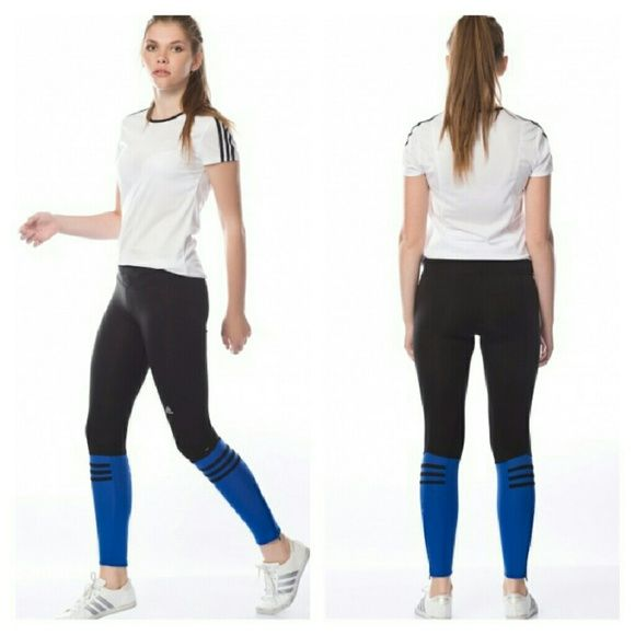 NWT Adidas response leggings w/ankle zippers MOVING SALE!!! PRICED TO SELL. NO OFFERS PLEASE.  NWT Adidas response leggings w/ankle zippers  MSRP $50  Main material: 83% polyester 17% spandex Adidas Pants Leggings