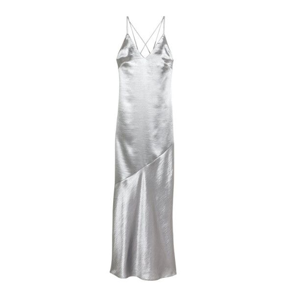 H&M Silver Slip Dress, $50