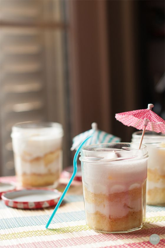 Pina colada façon charlotte par madeleines et plumes d'autruche #battlefood