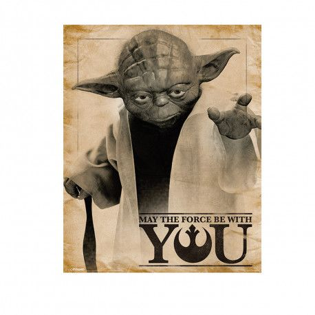Affiche Star Wars Yoda - May the Force be With You