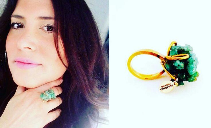 Fadia Bechara Designer - #Emerald #raweemerald #colombianemerald #jewelryemerald #gold