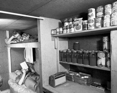 Vintage 1960's Bomb Shelter - Sealed Bomb Shelters From the 1960's found in-tact. http://www.redlightvintage.com/un-blast-from-the-past-sealed-bomb-shelters-found/