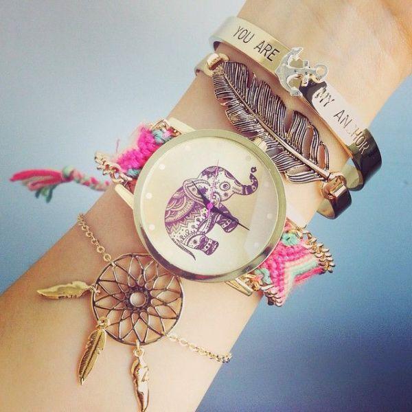 Pulseras y relojes moda 2016