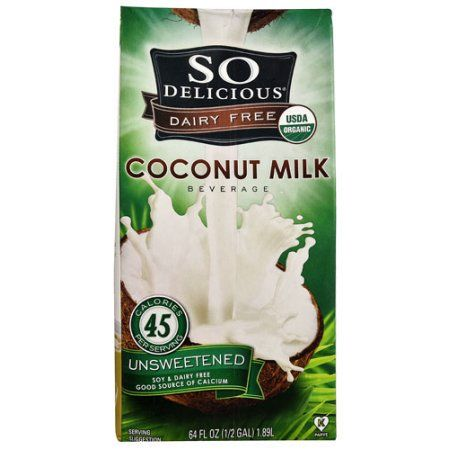 So Delicious Organic Coconut Milk Beverage Unsweetened -- Perfect for cereals! No nutty aftertaste like many other milk alternatives.