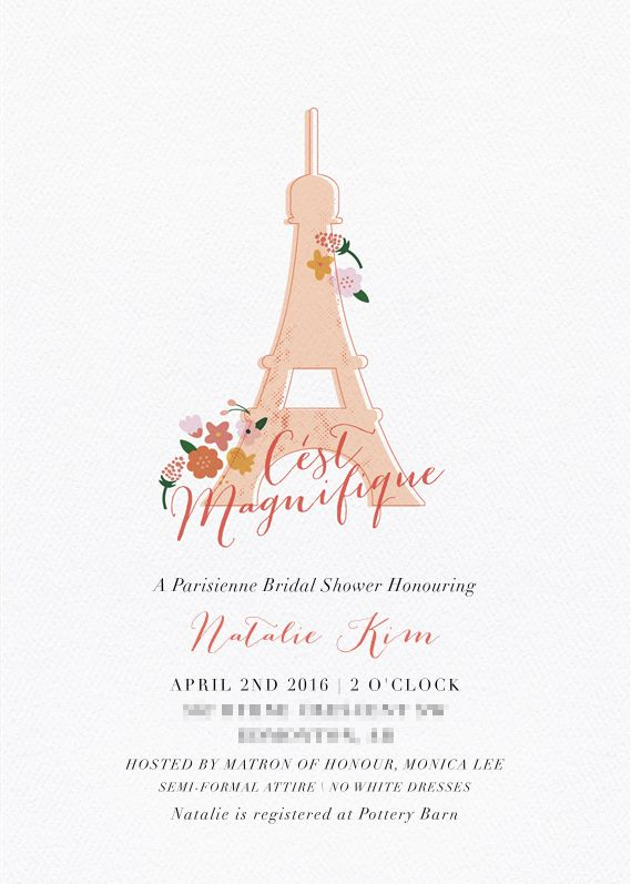 A Parisienne Bridal Shower Invitation