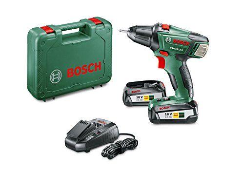 Bosch Visseuse sans Fil PSR 18 LI-2 (2 Batteries, Chargeur, Embout de Vissage Double, Coffret, Système 18V, 2,5 Ah) #Bosch #Visseuse #sans #Batteries, #Chargeur, #Embout #Vissage #Double, #Coffret, #Système