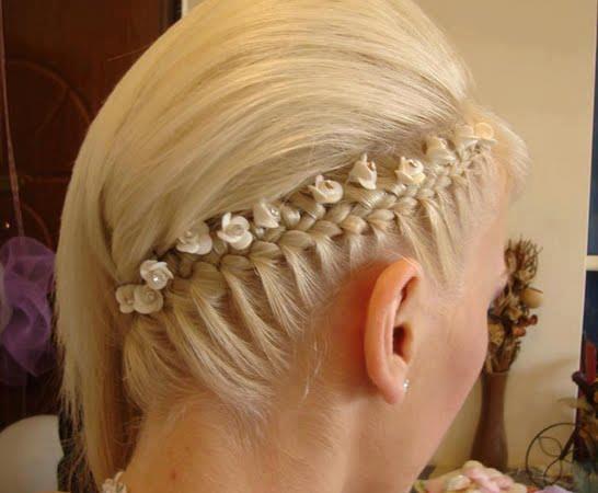 Cudna fryzura dla dziewczynki.