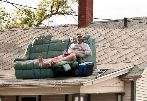 If you can take a break on your roof while putting up the Christmas lights....you might be a redneck.