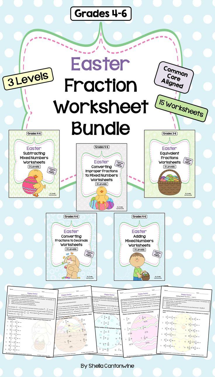 The 25+ best Math fractions worksheets ideas on Pinterest | Math ...