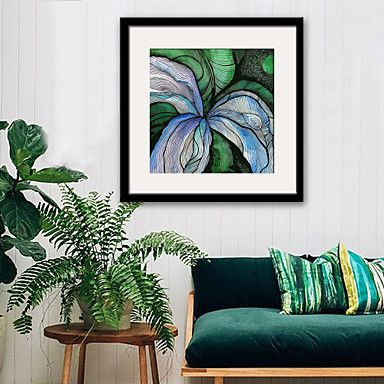 Floral/Botanical Abstract Illustration Wall Art,PVC Material With Frame For Home Decoration Frame Art Living Room Kitchen Dining Room