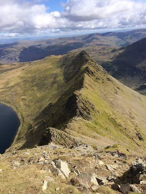 From Skye to Dartmoor: your favourite views in Britain    'Helvellyn's striding edge, the Lake District'.