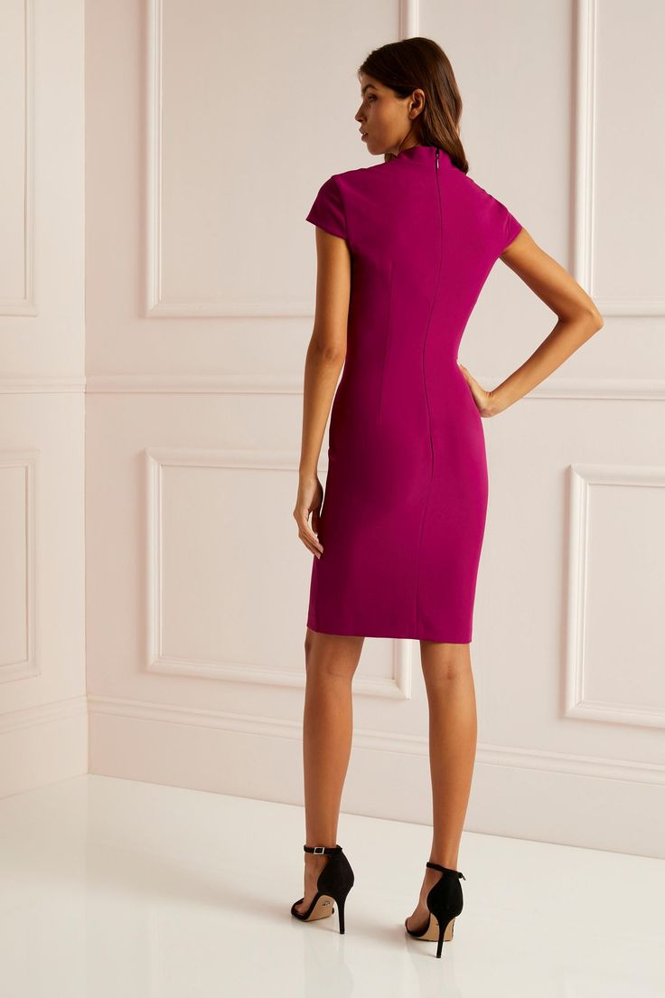 Lipsy plunge pleated bodycon dress