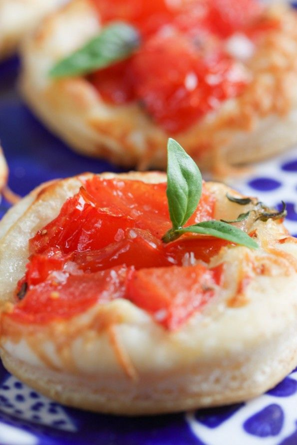 Mini Tomato-Parmesan Tarts via @April Cochran-Smith