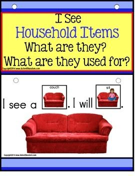 Forming sentences for our young learners or those with autism, can be challenging. Using real-life pictures for easy recognition of common household objects, students love learning to read and form sentences. Practice naming household items and their purpose with easy sight word practice as an added bonus! EASY-to-assemble and use in your classroom TODAY!