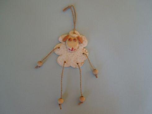 Přívěsek ovečka - keramika Co kus, to originál.