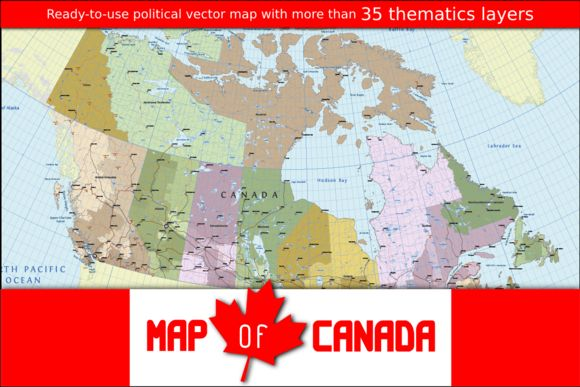 Vector Map of Canada by Cartorical on Creative Market
