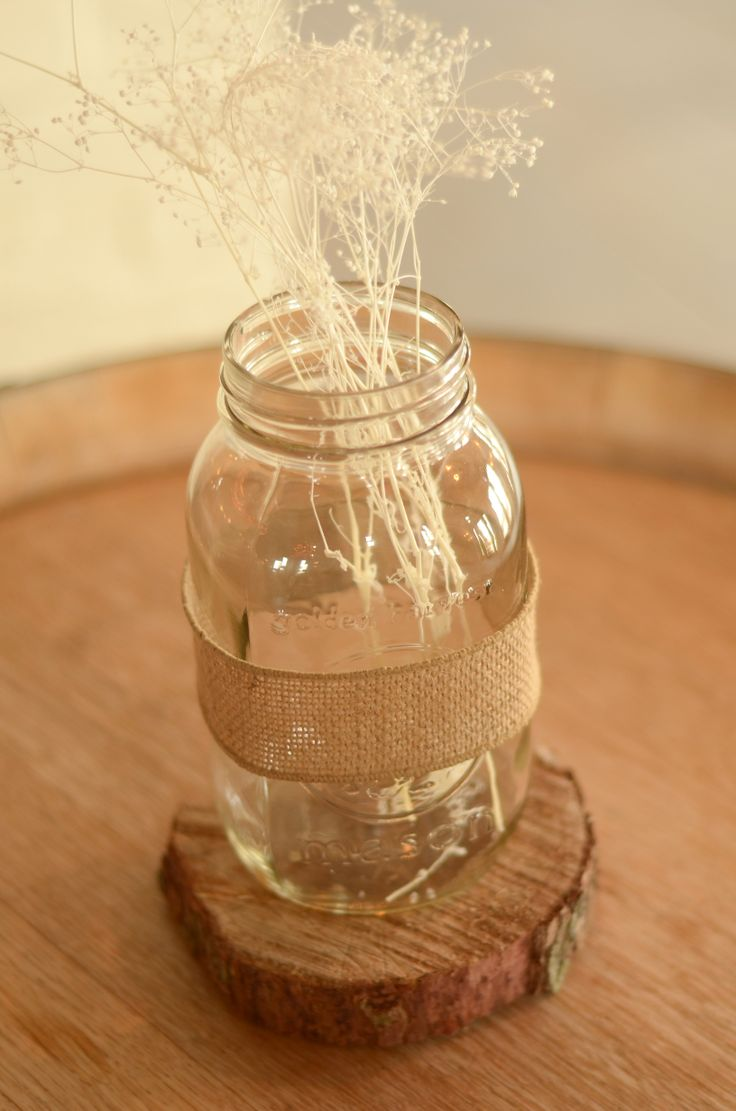Mason jar and babys breath | Jars. Glass creations ...