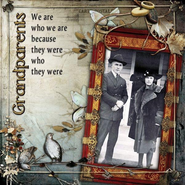 pinterest grandparrent scrapbook ideas | Layout about grandparents | scrapbook ideas