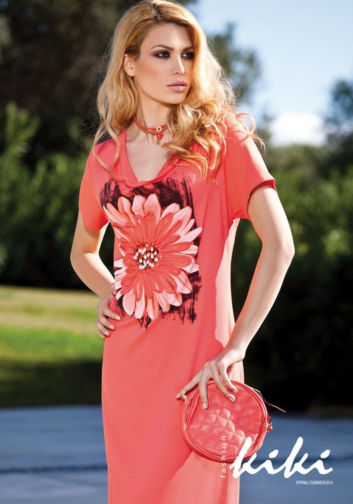 Dress with flower