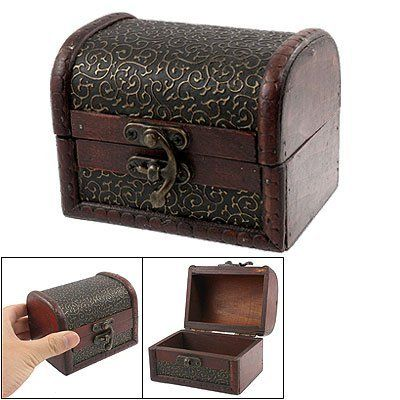 Rosallini Bronze Tone Embossed Flower Old Stye Wooden Jewelry Box Case Rosallini. $7.22. External Size: 10.4 x 7.7 x 7.9cm/4.1'' x 3'' x 3.1''(L*W*H). Internal Size: 9.3 x 5.6 x 3.5cm/3.7'' x 2.2'' x 1.4'' (L*W*H). Material: Wood; Color: Brown, Bronze Tone; Net Weight: 21g. Package Content: 1 x Wooden Jewelry Box. Product Name: Wooden Jewelry Box