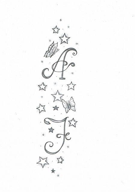 Kim Sterne Und Buchstaben Tattoos Tattoos Star Tattoos Und