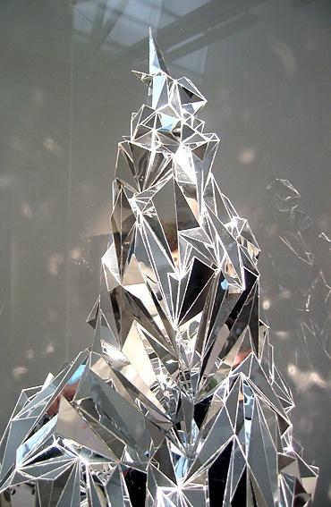 Justine Khamara | You are a glorious, desolate prospect  #geometric #glass #mirror #art @CO DE + / F_ORM
