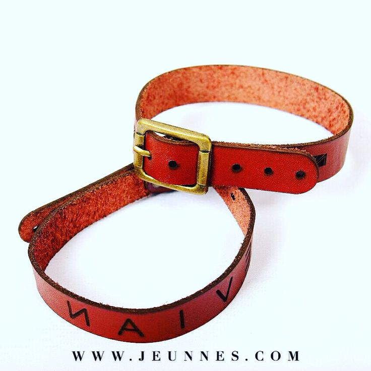 NAIVE BRACELET!  Brown leather strap Naive engraved Buckle adjustable  Only 60,000 idr