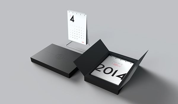 """Been tasked by Bosch to design the Calendar of next year. The comination of using paper and aluminium as the general look and feel was strickly guided by the law of simplicity. """"Future is now"""" has been selected as the title of the calendar, which implie…"""