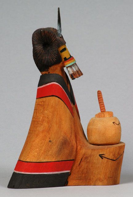 Katsinmana  Katsina Maiden, Hopi, Fernando Puhuhevavn, 1990s. Donated by Mr. John Mattox. Southwest Museum of the American Indian Collection, Autry National Center; 5047.G.10