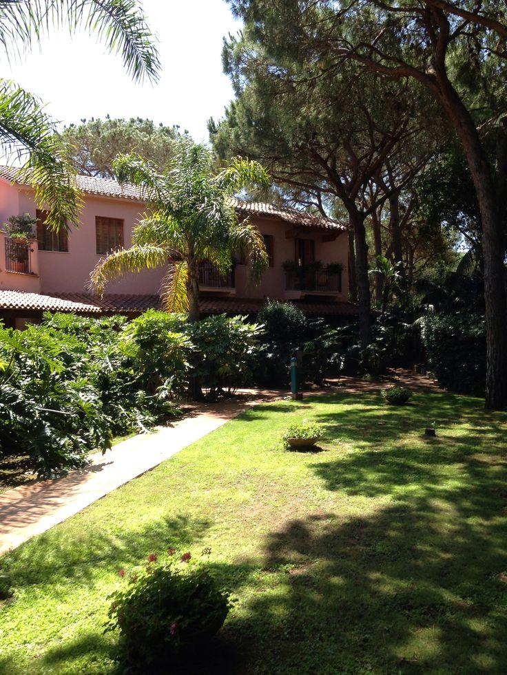 Back yard of Sardinia's houses