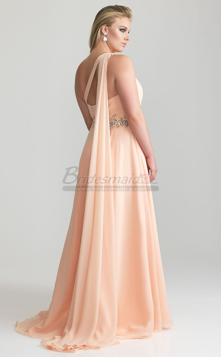 Best 25 plus size bridesmaids dresses ideas on pinterest browse this one shoulder chiffon long pearl pink plus size bridesmaid dress for every season in every color style and length free coustom made and get ombrellifo Images