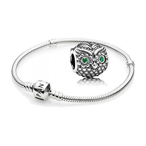 Aus der Kategorie Armbänder & Armreifen  gibt es, zum Preis von EUR 104,00  Original PANDORA Starterset / Geschenkset 925er Sterling Silber - 1 Silber Armband - Größe 18 cm - Art.Nr. 590702HV-18 und 1 Silber Charm Weise Eule Art.Nr. 791211CZN