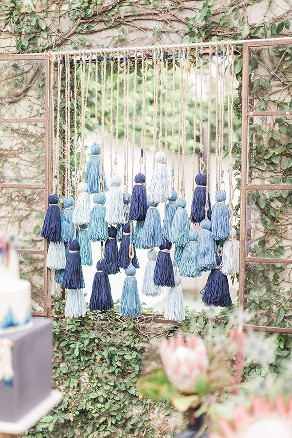 Stylish Blue and Boho Wedding Inspiration Made for the Summer #WeddingInspiration #WeddingInspo #StyledShoot