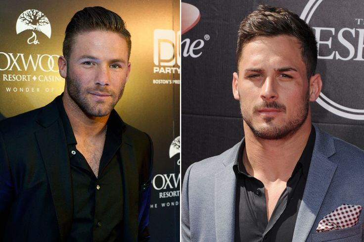 Moving on, let's take a gander at the weapons those quarterbacks get to throw to. This is where it starts to almost get unfair. So rugged. So classically handsome. Seriously, find us a more attractive pair of wide receivers than Julian Edelman and Danny Amendola. We dare you. (Photos via Getty Images)  via @AOL_Lifestyle Read more: https://www.aol.com/article/2016/04/14/the-new-england-patriots-might-be-the-most-attractive-team-in-fo/21344421/?a_dgi=aolshare_pinterest#fullscreen