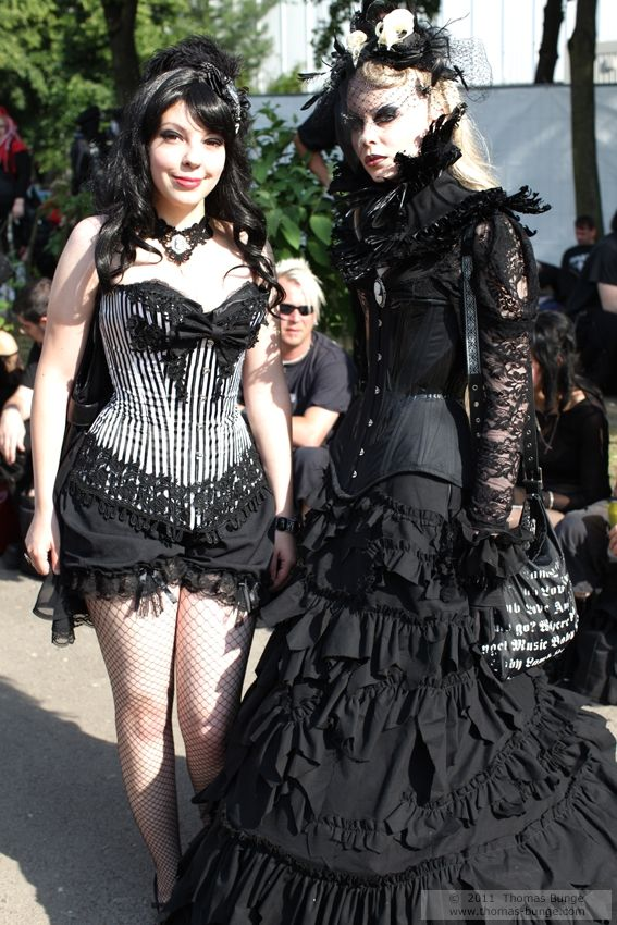 Burlesque and Victorian gothic fashion from Wave Gotik Treffen 2011