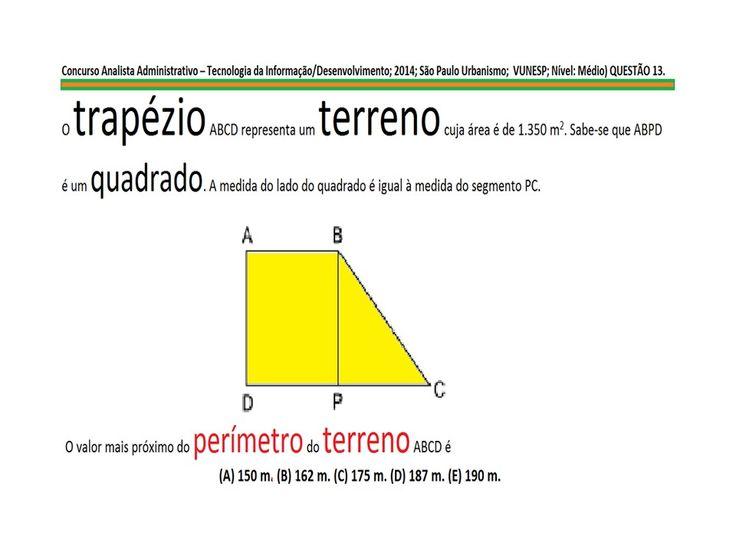 Curso Matemática ÁREAS E PERÍMETROS DE FIGURAS PLANAS QUADRADO TRIÂNGULO... https://youtu.be/Nb9MKm1x9rE