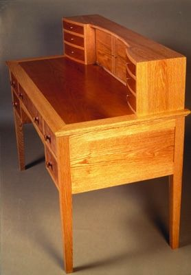 Oak and cherry desk by Jason Breen, a member of the Guild of Vermont Furniture Makers.
