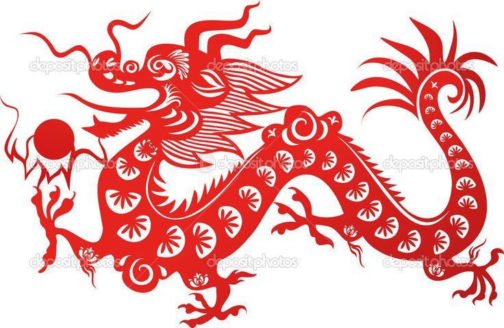 Dragón chino tradicional. símbolo del año 2012