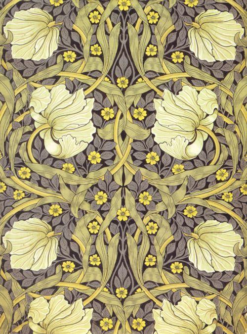 'Pimpernel' wallpaper design, 1876 by William Morris. See my 'Blog/Sites: Art+' Board for information on artist William Morris.