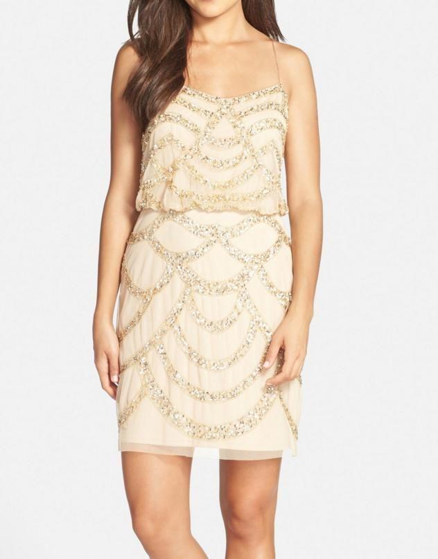 8949579a535 AIDAN MATTOX Beaded Mesh Blouson Dress - Size 8    395- NWT  fashion   clothing  shoes  accessories  womensclothing  dresses (ebay link)