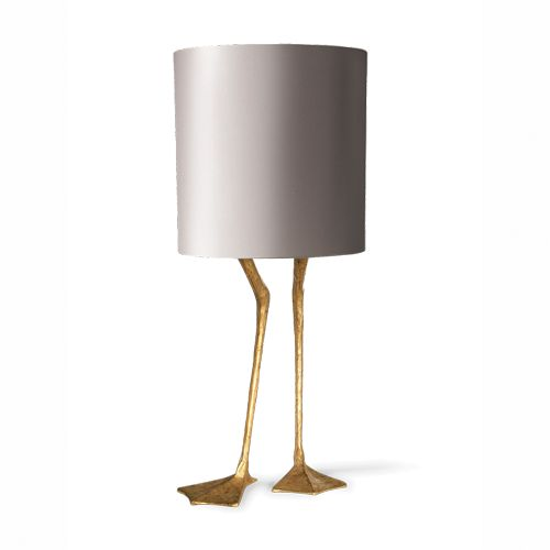 I am in LOVE with this lamp from Porta Romana! Porta Romana - VLB20, Duck Feet Lamp - Decayed Gold